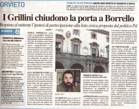 2013-03-11 la nazione (I Grillini chiudono la porta a Borrello)