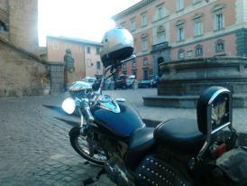 parcheggiare moto in Orvieto è faccenda complessa