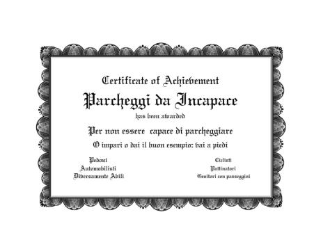 Premio Pessimo Parcheggio