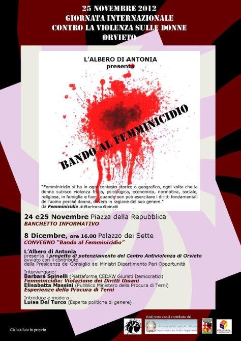 Stop al femminicidio, basta violenza sulle donne