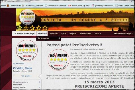 Visita e PreIscriviti al Meetup degli Orvietani