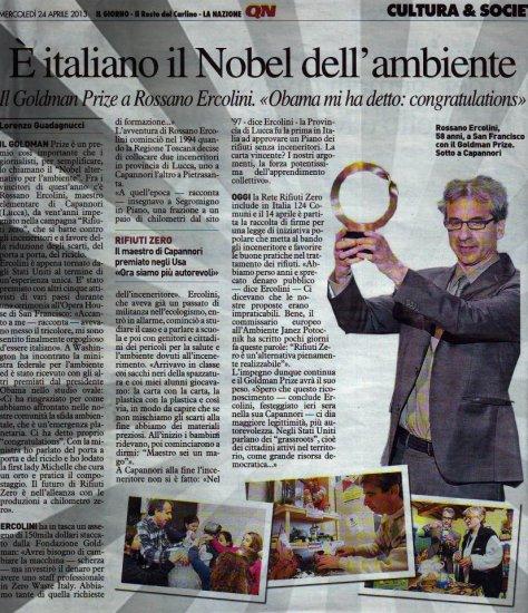 """il """"nobel"""" per l'ambiente, il Goldman Prize va all'Italiano Rossano Ercolini"""