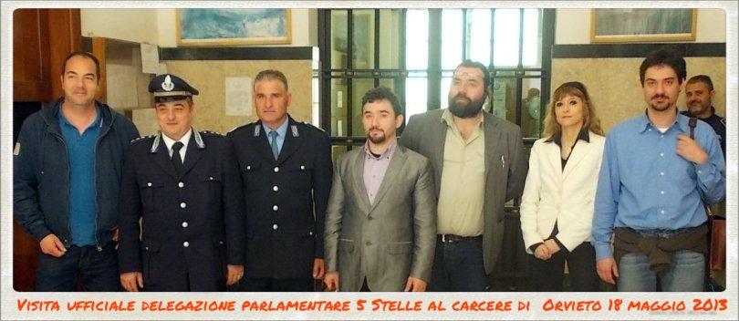 delegazione M5S alla casa di reclusione di Orvieto