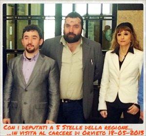 Silvio Torre con i deputati Ciprini (a sin.) e Gallinella (a destra)