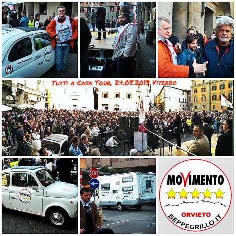 collage tutti a casa tour 2013 viterbo