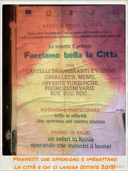 manifesti che offendono Orvieto e chi ci lavora