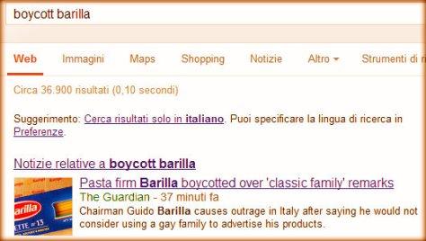 boycott barilla