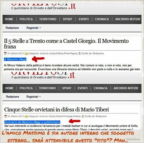 OrvietoSi, quotidiano d'opinione avverso al M5S che appoggia chi tenta d'infiltrare il MoVimento