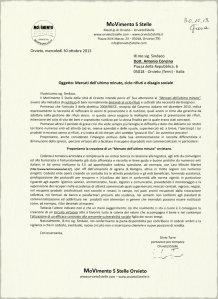 Proposta di Stop allo spreco di cibo e creazione di mercato dell''ultimo minuto M5S Orvieto (Silvio Torre)
