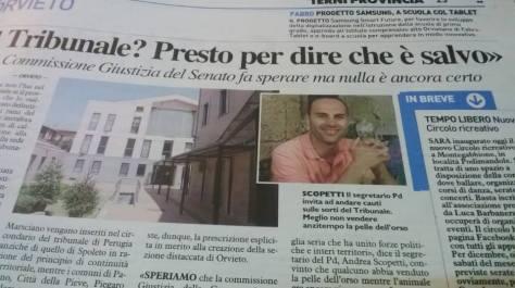 scopetti sul tribunale di Orvieto