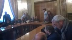 I delegati delle forze politiche del ternano