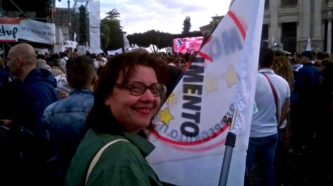 Lucia Vergaglia - Chiusura Campagna Elettorale 2014 Roma San Giovanni