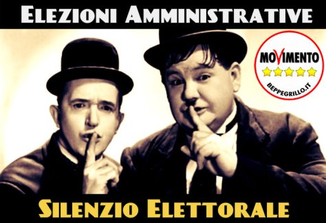 m5s silenzio elettorale