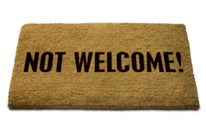 Not Welcome Doormat, with Clip Path. See also 'Welcome' Doormat