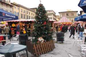piazza santa croce - mercatino di natale -firenze