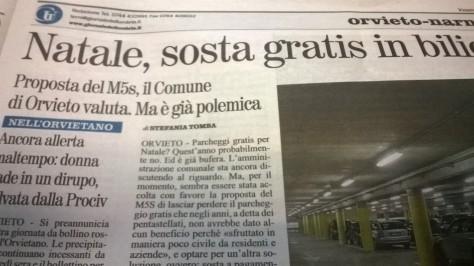 Polemica OL (Orvieto Libera) M5S - ex assessore luciani su parcheggi a pagamentoWP_20141107_002