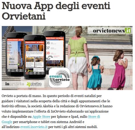 app eventi orvietani