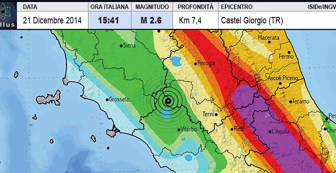 Sciami sismici anche a CastelGiorgio