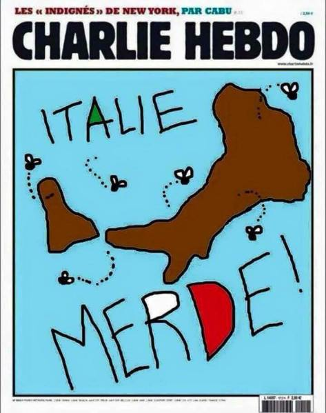 charlie hedbo italie merde