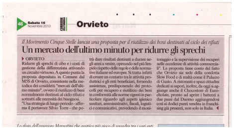 Mercati dell'ultimo minuto (Corriere dell'Umbria)
