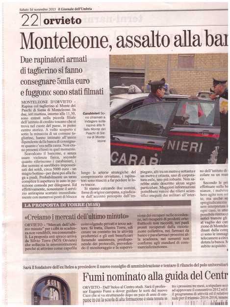 Mercati dell'ultimo minuto (Il Giornale dell'Umbria)