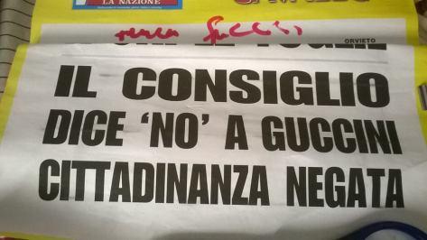 cittadinanza negata guccini (autografata)