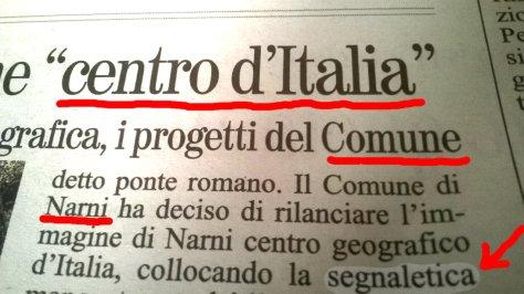 narni centro d'italia