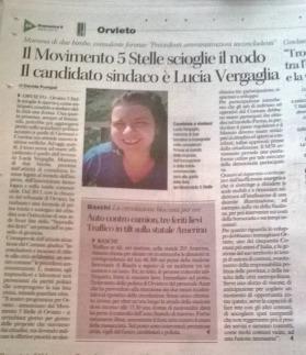 L'annuncio della scelta di Lucia Vergaglia