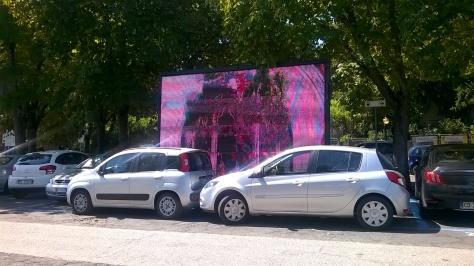 maxi schermo parcheggio