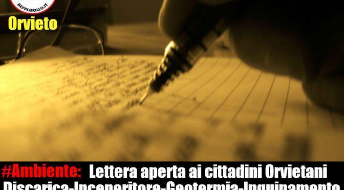 Ambiente: lettera aperta ai cittadini orvietani