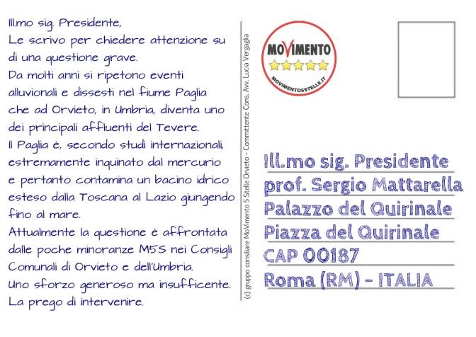 Cartolina a Mattarella