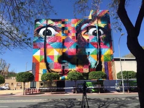 Artwork (mural) by Eduardo Kobra Location : Espanha / Murcia Facebook : Eduardo Kobra Veja a matéria sobre o mural de kobra no Brasil / See the article on the wall of kobra in Brazil : http://artesemfronteiras.com/mural-incrivel-do-artista-edu.../ #graffiti #streetart #urbanart #arteurbana #ASF #wall #artwork #artesemfronteiras #mural #spray #sprayart #kobra #artwithoutborders #spraypaint