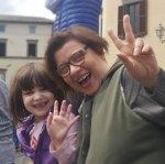 La portavoce #M5S Lucia Vergaglia (con la picvola Francesca)