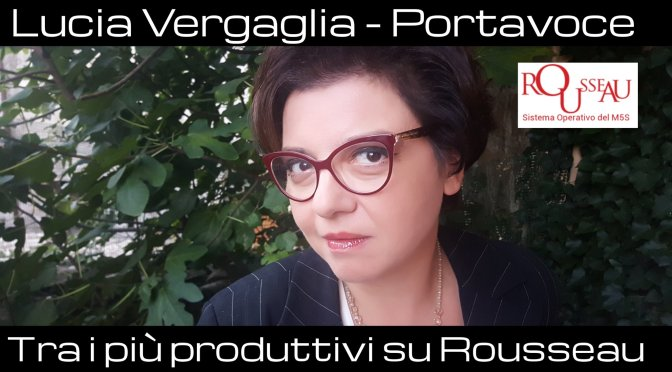 Lucia Vergaglia tra i Portavoce più produttivi