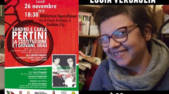 Incontro su Pertini con Lucia Vergaglia