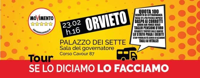 """Ad Orvieto """"Se lo diciamo lo facciamo"""""""