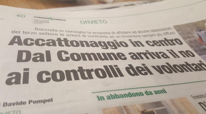 Accattonaggio forzato. Respinte le proposte M5S Orvieto