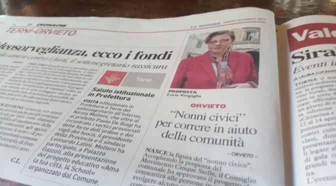 Vergaglia: ad Orvieto una sana staffetta tra le generazioni