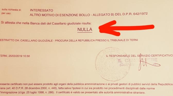 Vergaglia(M5S Orvieto): liste pulite per Orvieto 2019