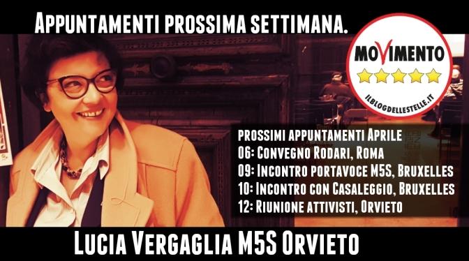 Vergaglia (M5S Orvieto): una settimana densa di incontri