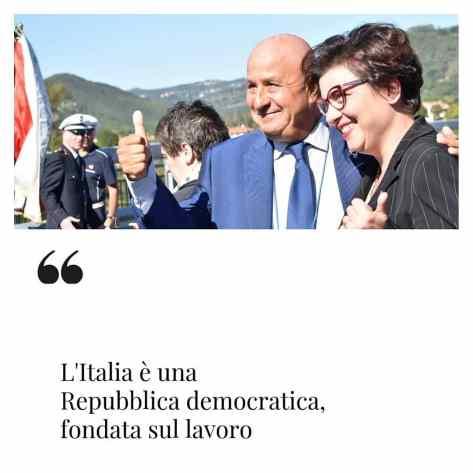 Lucia Vergaglia promotrice di Orvieto città della Costituzione assieme al professor Cuccodoro