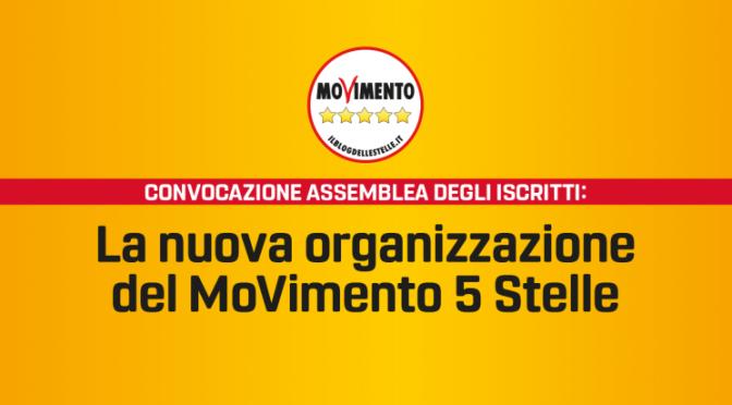 Invito a partecipare alla riorganizzazione M5S