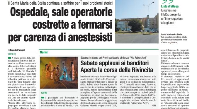 Orvieto, Umbria. La salute e la sanità orvietana.