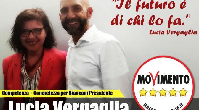 Tra i candidati di Vincenzo Bianconi c'è Lucia Vergaglia del M5S