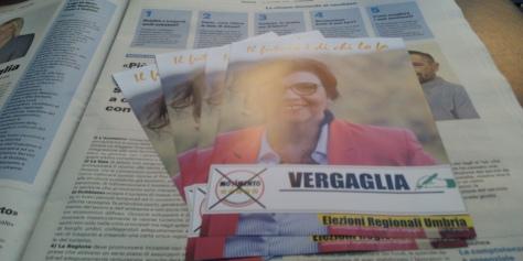 Lucia Vergaglia candidata per la regione Umbria 2019
